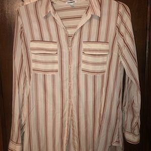 Stripped button up blouse